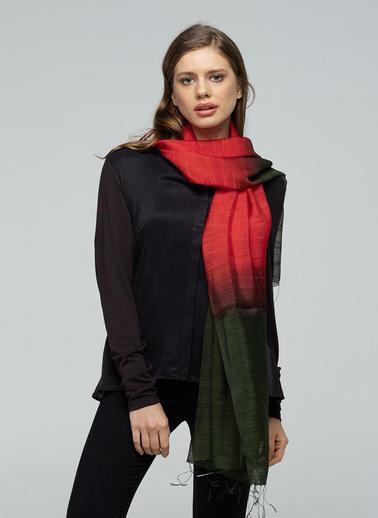 Silk and Cashmere Fular Kırmızı